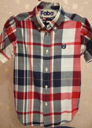 Фирменная рубашка на мальчика