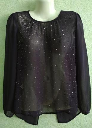 Блуза баклажановая, стильная и нарядная, по спине длинее чем спереди. next.