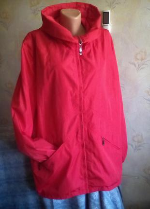Стильная качественная куртка-ветровка большого размера бренд clasna