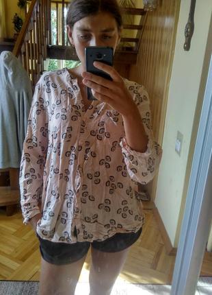 Сорочка рубашка f&f f and f в цветок с хлястиком