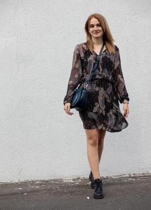 Новое платье с оборками в узор пейсли огурцы orsay