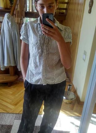 Рубашка с короткими рукавами сорочка з короткими рукавами в полоску k&d