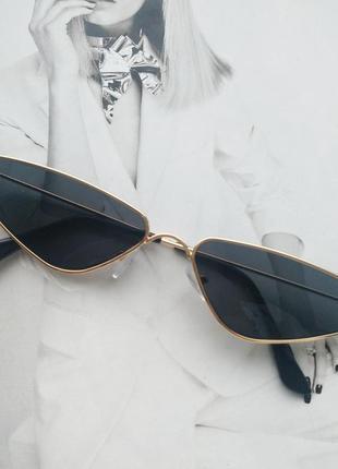 Солнцезащитные очки маленький треугольник черный