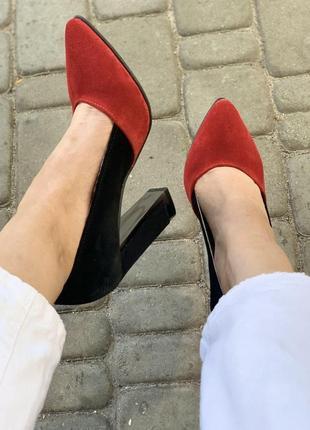 Туфли из натуральной итальянской замши