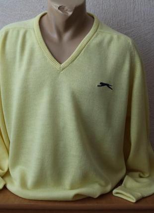 Slazenger пуловер джемпер свитшот тонкий с мысиком оригинал пр-во англия