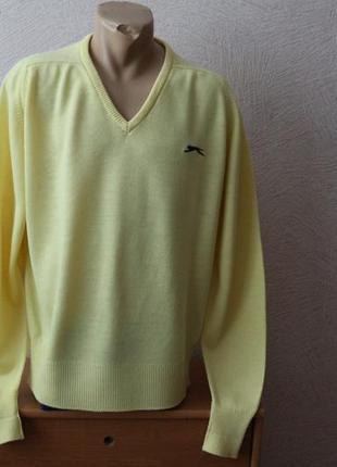 Slazenger  джемпер свитшот пуловер тонкий с мысиком оригинал пр-во англия