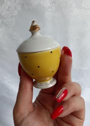 Спецовочница солонка подставка под яйцо в горошек довбыш фарфор ссср