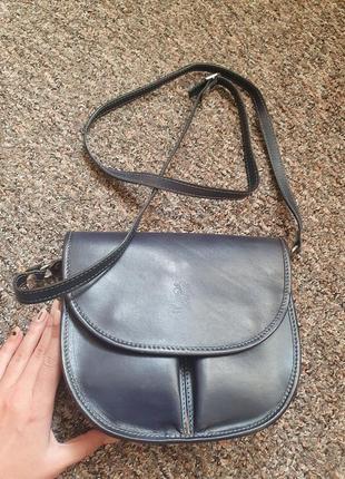 Темно-синяя сумка кросс-боди