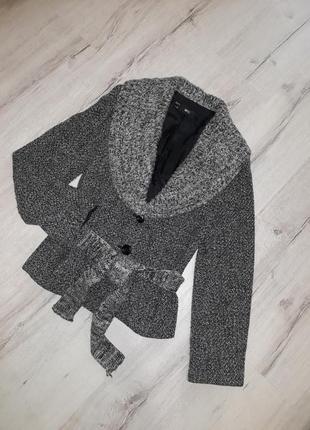 Пиджак шерстяной mango размер s или м женский серый