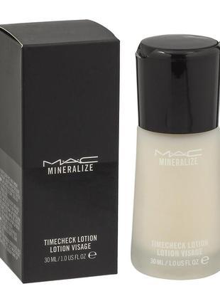Антивозрастной увлажняющий лосьон-праймер mac mineralize timecheck lotion