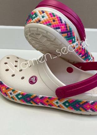 Сабо crocs crocsband оригинал белые