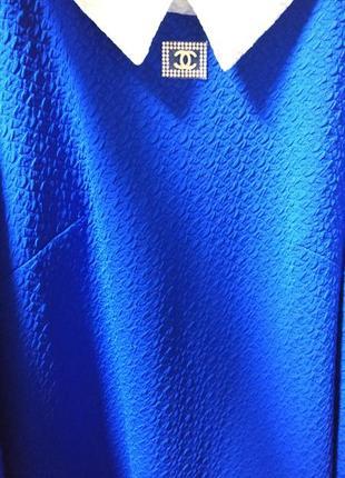 Шикарное платье цвета электрик, размер 8-10