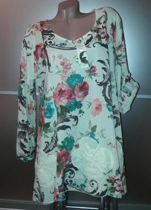 Натуральная блузка/блузон/туника/италия