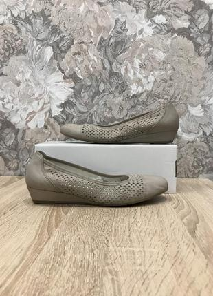 Gabor 39 р кожа туфли мокасины туфлі мокасини