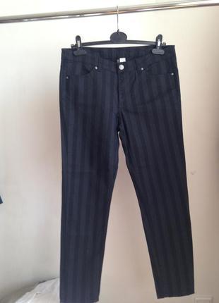 Зауженные супер  брюки в полоску h&m
