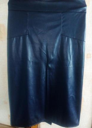 Очень красивая кожанная юбка-карандаш