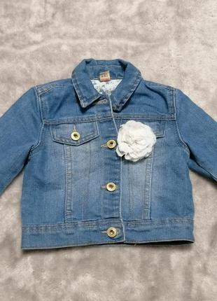 Джинсовая куртка tu на 2-3 года