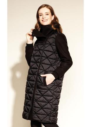 Куртка из драпа стеганая с подкладкой и капюшоном женская осенняя zaps ramaya 004 черная