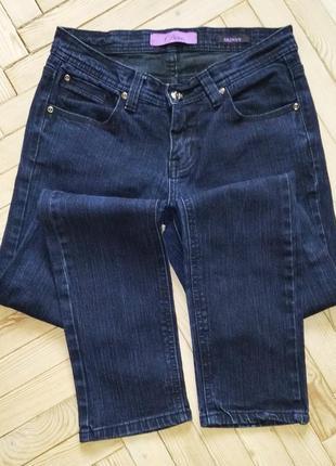 Темно-синие узкие джинсы скини house of denim