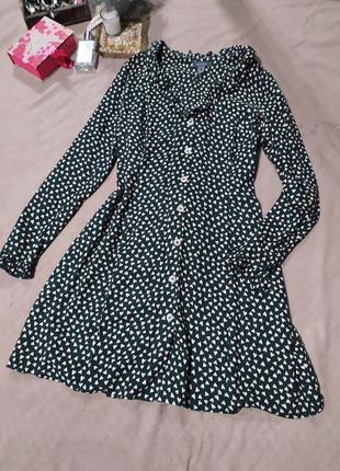 Платье -халат в сердечках primark