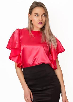 Блуза с оригинальными плечами и рукавами lilove