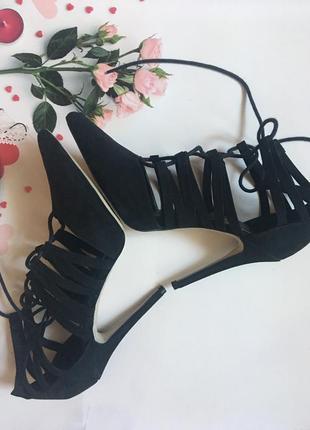 Туфли замшевые на шнуровке -38-39р.