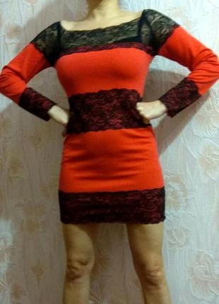 Красивое нарядное трикотажное платье р. 44