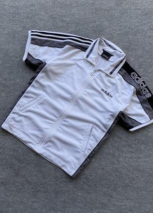 Винтажная, оверсайзная олимпа-футболка adidas vintage