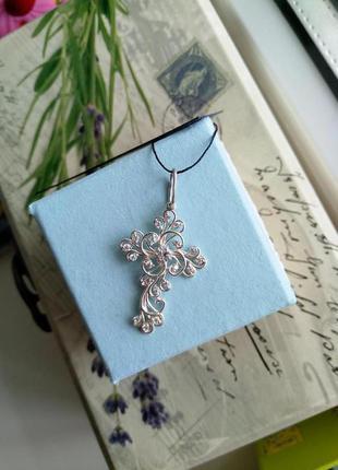 Безумно красивый крестик серебро 925 пробы1