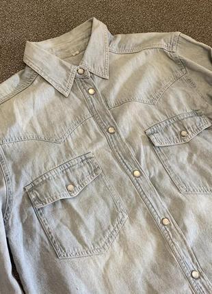 Джинсова рубашка із цупкої тканини