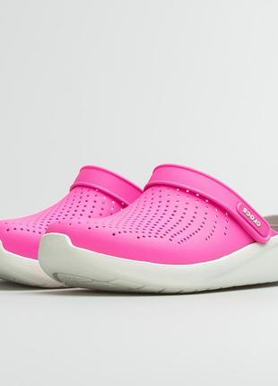 Crocs literide clog electric pink кроксы лайтрайд оригинал