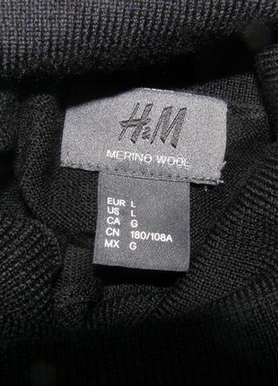 H&m мужской гольф 100%шерсть l-размер
