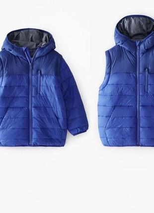 Куртка жилет для мальчика оригинал зара zara