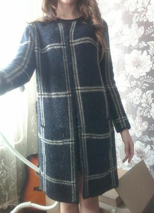 Акция!!! полупальто, пальто, кардиган3в1синего цвета бренда principles petite