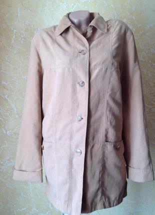 Демисезонная куртка прямого кроя