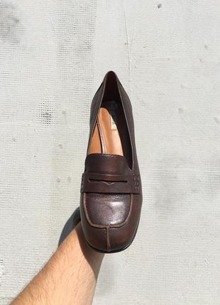 Деловые высококачественные туфли лоферы geox respira как ecco
