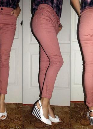 Лиловые джинсы для весны и лета.