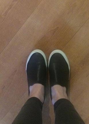 Слипоны мокасины туфли на платформе подошве