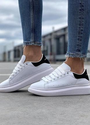 Alexander mcqueen стильные женские кроссовки маквин белый цвет кожа (36-40)💜