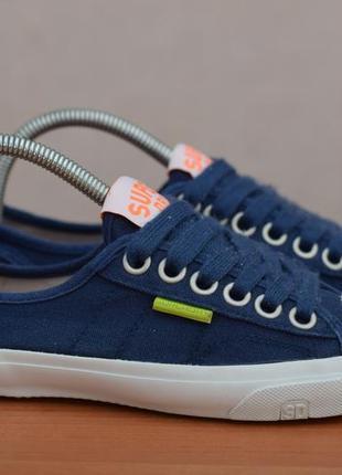 Синие кеды, кроссовки superdry, 38 размер. оригинал