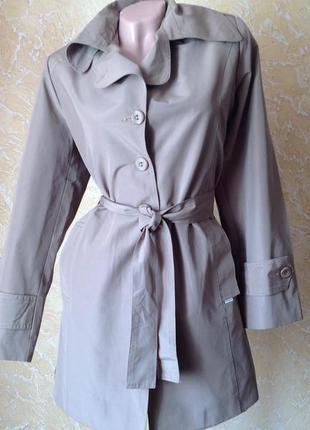 Демисезонная длинная куртка тренч. скидка10%на2вещи!)