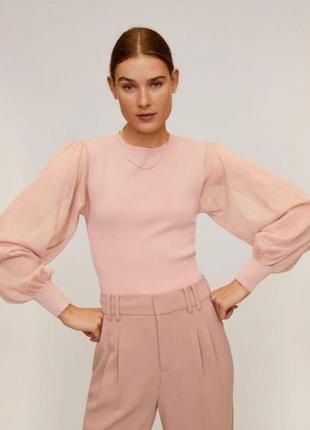 Блузка, кофточка мango, mng с объемными рукавами, p. s