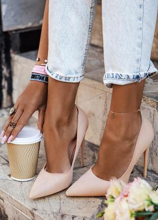 Светло-розовые туфли!!