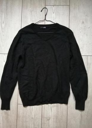 Джемпер свитер с v-образным вырезом merino lana