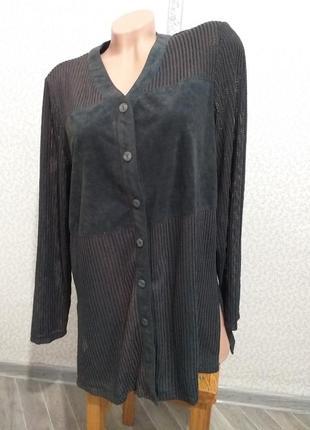 Рубашка, комбинированная, два вида ткани. (2774)