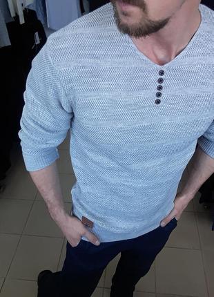 Свитер мужской серый