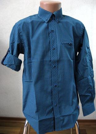 Рубашка школьная на 6-10лет. клетка