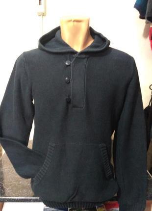 H&m худи, свитер с капюшоном 100% коттон размер s