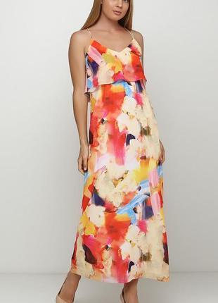 Платье яркое длинное