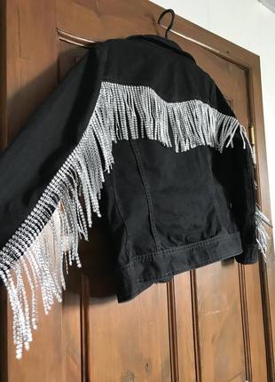 Куртка джинсовая с бахромой